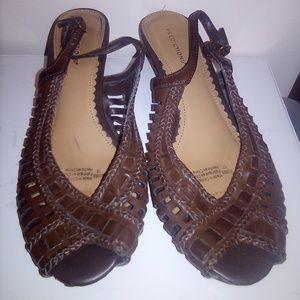 Heeled Slip On Sandals